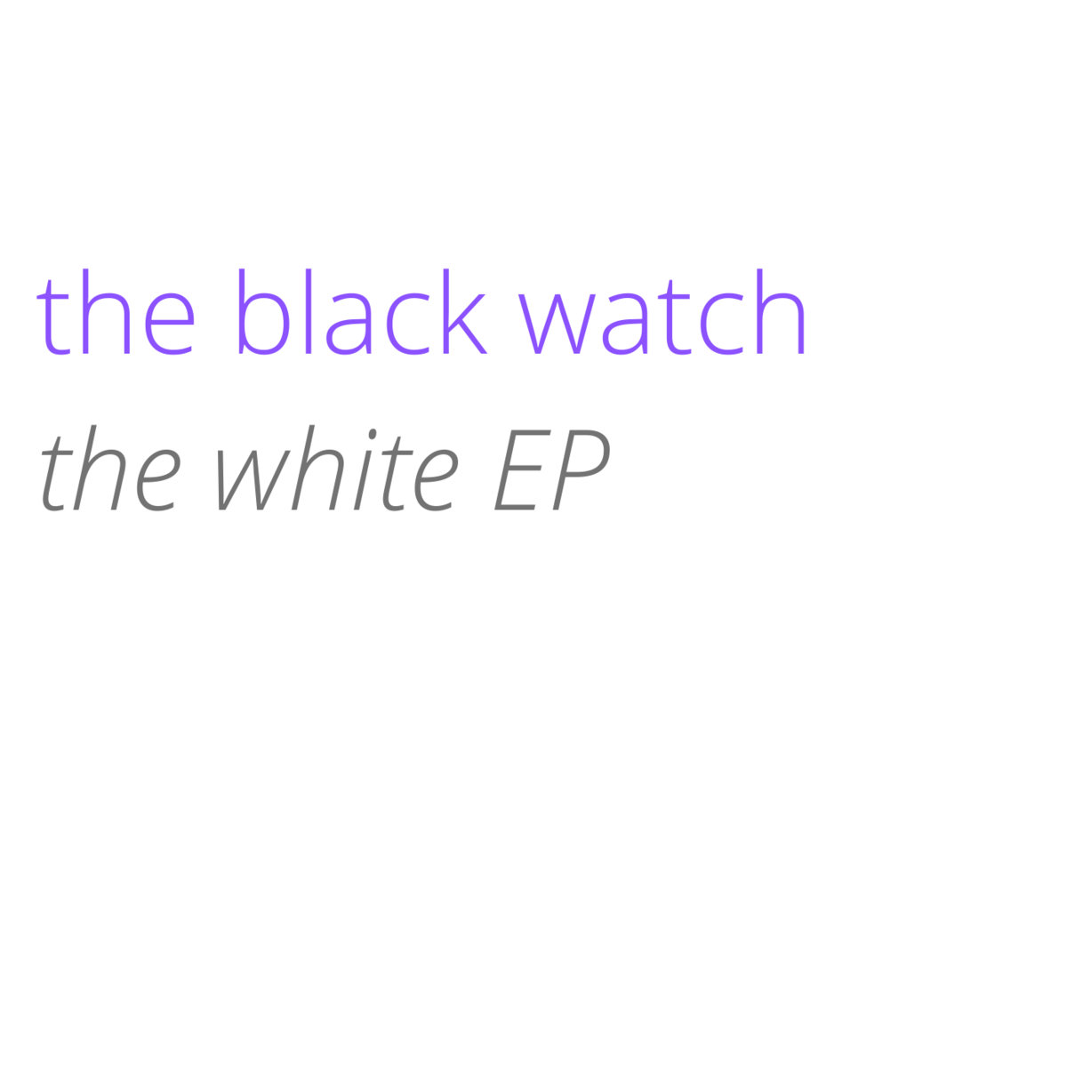 """Exclusive Premiere: the black watch's """"Off You Go"""""""